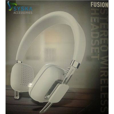 Syska Fusion Headphones (White)