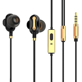 Tagg SoundGear-500 Dual Driver in-Ear Headphones with Microphone (Black)