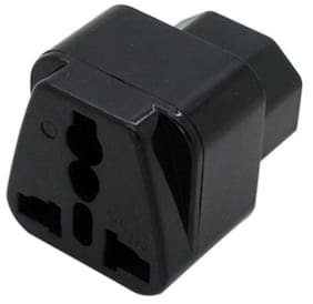 Tech Gear IEC 320 C14 to universal Female Power Adapter AC Power Plug Connector, Black