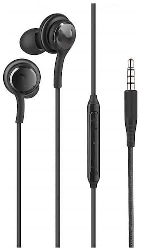 Tech-x 3D Sound Compatible for Samsung Android Mobiles AKG Earphone handsfree Headphone with Mic HIGH Treble and Bass