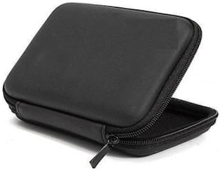 """Techvik HDD 2.5"""" Protective Carrying Hard Cover Case Pouch For Portable External Hard Disk (Black)"""