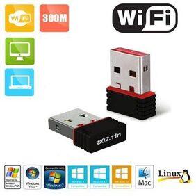 Terabyte 11N Mini USB 300 Mbps Wireless USB Adapter (Black)