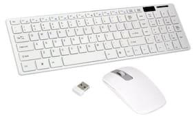 Tech Gear WI2.4GHz Wireless Keyboard & Mouse Set (White)
