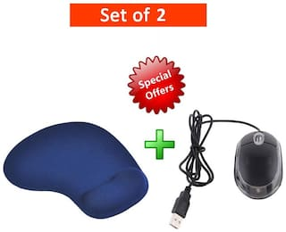 Terabyte wired mouse Wired Mouse ( Black )