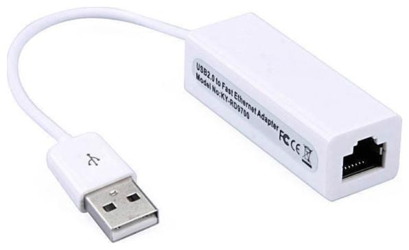 Terabyte USB 2.0 Ethernet Adapter LAN Card  White