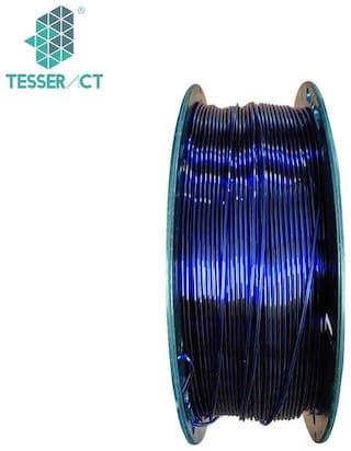 Tesseract 1.75mm PLA Premium Plus 3D Printing Filament 1Kg (Glass Blue)