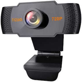 TIZUM ZW79 HD 720p Webcam Web Camera for PC, Mac, Laptop, MacBook; Manual Focus, Wide Angle, ALC, Noise-Reducing Mic, Video Calling/Conferencing; for Online Teaching, Gaming, Skype, Xbox