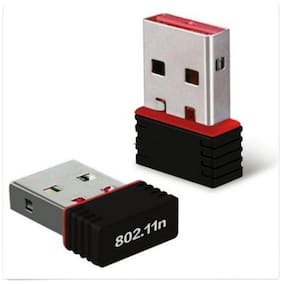 Totu Mini USB WiFi Adapter N 802.11 b/g/n Wi-Fi Dongle Phone (Black)