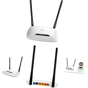 TP-Link  N300 Wireless Wi-Fi Router - 2 x 5dBi High Power Antennas, Up to 300M...