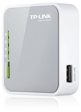 TP-LINK TL-MR3020 Portable Wireless 3G/3.75G/4G Wireless Router (White & Grey)
