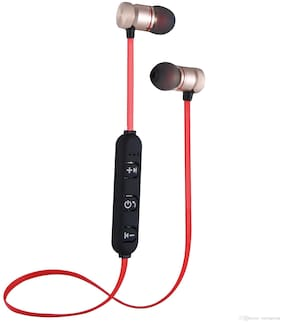 TSV magnet red -100 In-Ear Bluetooth Headset ( Red )