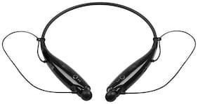 TSV HBS-730 NECKBAND Black Bluetooth Stereo Sports Headset Compatible with XIAOMI BlackMI 6 PRO