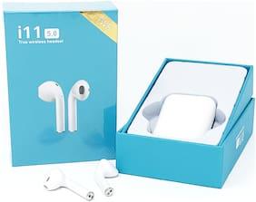 TSV i11 -TWS   Bluetooth Earphones Mini Twins Earbuds Stereo Music Headphones For Apple iPhone & Samsung White