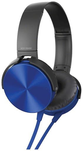 TSV MDR-ZX300 On-Ear Wired Headphone ( Blue )