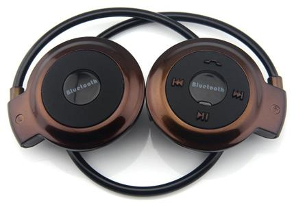 TSV Mini 503 Sports headset On Ear Bluetooth Headset   Brown