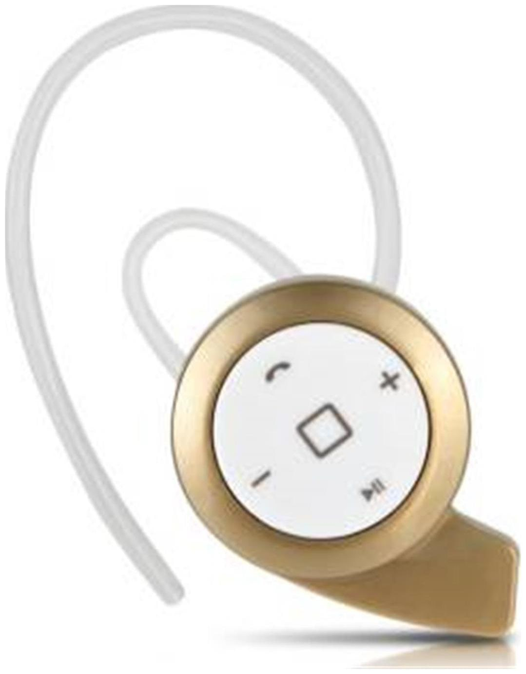 TSV V4.1 Stereo Wireless Mini Whistle Bluetooth Headset With Mic For Handsfree Calling   Music Compatible With Samsung Galaxy S9+ Golden