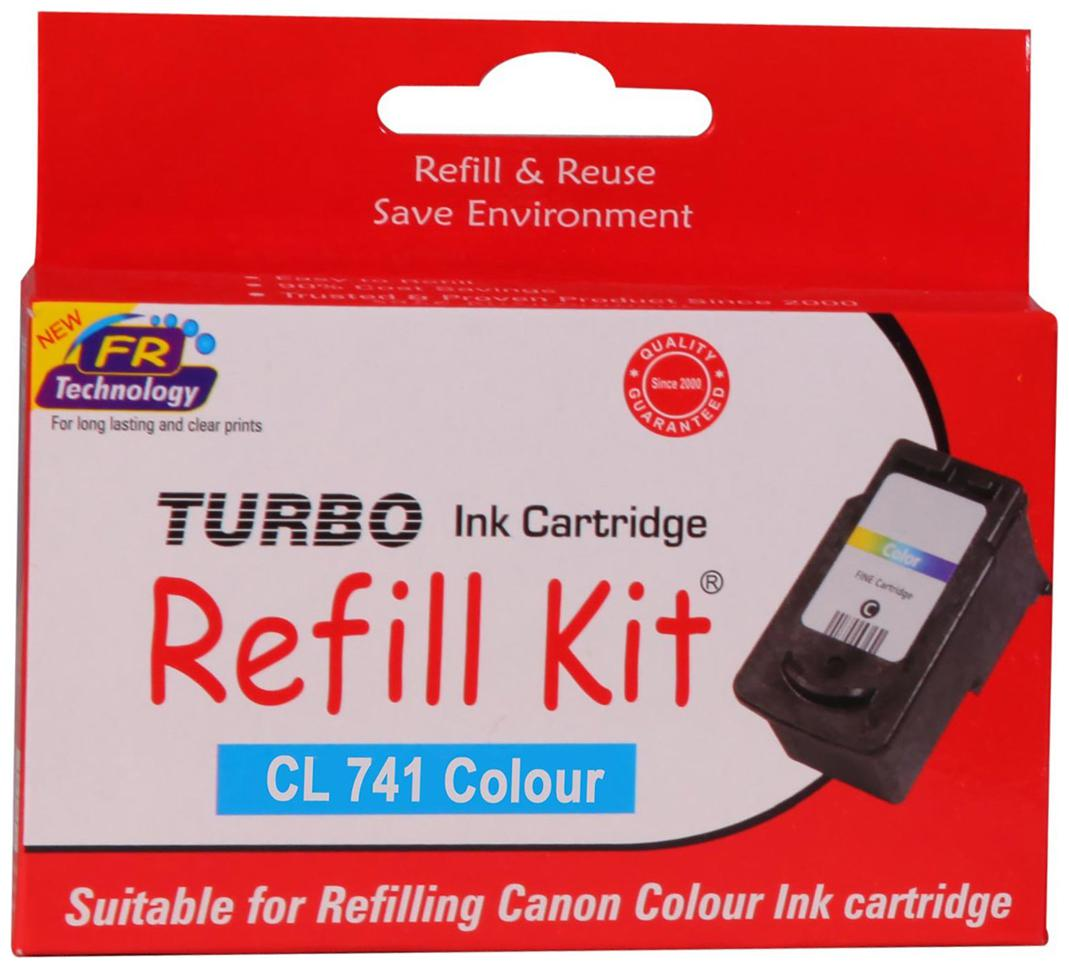 Turbo Reffill Kit For Canon Cl 741 Color Ink Cartridge  Multi Color  by Computer Bazar