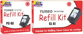Turbo Refill Combo for Canon Pixma PG 40 black and CL 41 color ink cartridge