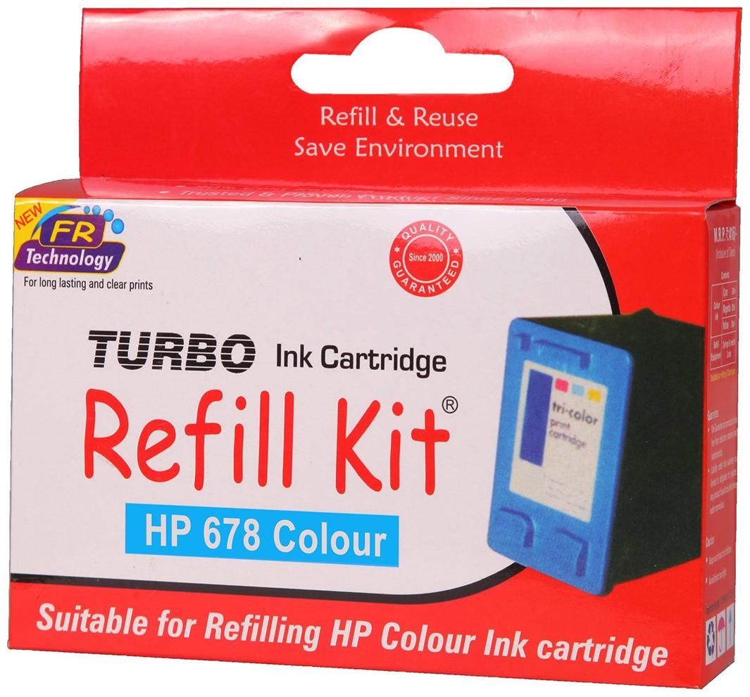 Turbo Refill Kit For HP 678 Ink Cartridge  Multi Color
