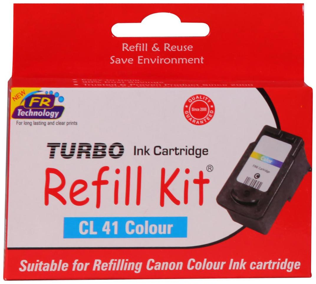 Turbo Refill Kit For Canon Cl 41 Color Ink Cartridge  Multi Color  by Computer Bazar