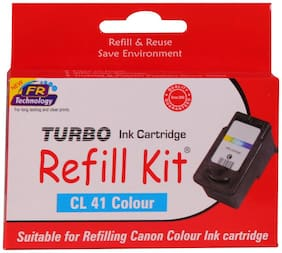 Turbo Refill Kit For Canon Cl 41 Color Ink Cartridge (Multi Color)