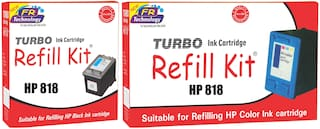 Turbo Refill Combo for HP 818 black and HP 818 color ink cartridge
