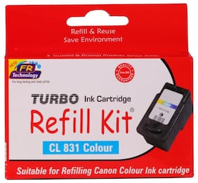 Turbo Refill Kit For Canon Cl 831 Color Ink Cartridge (Multi Color)