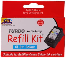 Turbo Refill Kit For Canon Cl 811 Color Ink Cartridge (Multi Color)