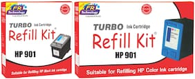 Turbo Refill Combo for HP 901 black and HP 901 color ink cartridge