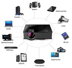 UNIC UC46 Portable 1080P 800x480 Resolution WiFi LED Projector