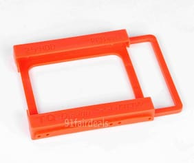 """US 10PCS 2.5"""" to 3.5"""" SSD to HDD Mounting Plastics Adapter Bracket Holder Dock"""