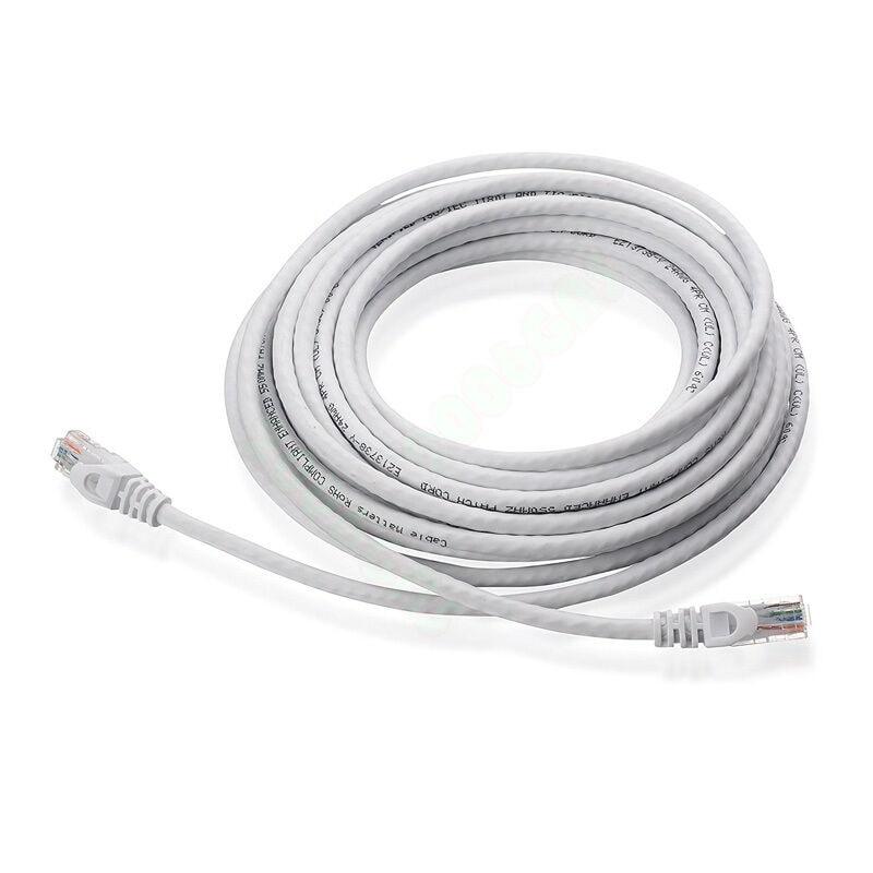 US 15M 50Ft Cat6 Cat 6 Network Internet Cable RJ45 Ethernet Lan Patch Cable
