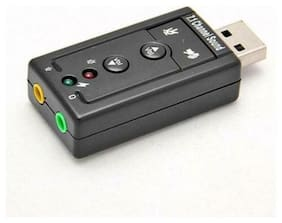 USB 2.0 3D 7.1 480Mbps Channel Audio Sound Card Sound Adapter For PC Laptop US