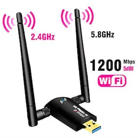 USB WiFi Adapter 1200Mbps,USB 3.0 Wireless Network Adapter WiFi Dongle for PC OS