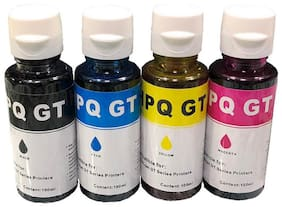UV INFOTECH GT-51 and GT-52 Compatible Ink for Use DeskJet GT 5810/GT 5811/GT 5820, GT 5821 Printer, Ink TanK  315/319/410/415/416/419/457 Printer(black/cyan /yellow/magenta)