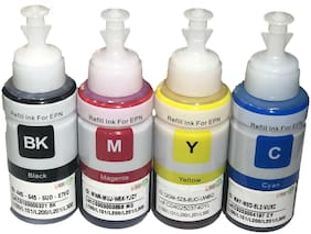 UV INFOTECH Refill Ink For Use In L210 Printer Multi Color Ink Bottle(70 ml each)-black,magenta yellow cyan color ink bottles