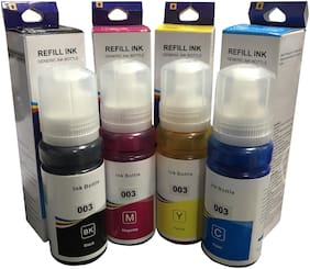 UV INFOTECH premium refill ink for EP l3112 series printer ( bk/c/m/y -70 ml each)