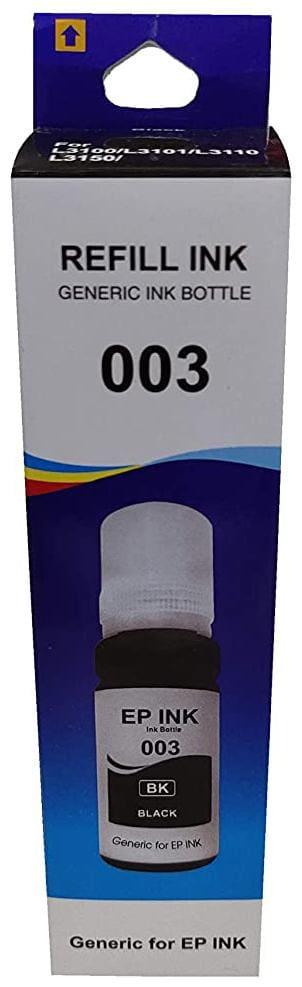 UV INFOTECH 003 REFILL INK COMPATIBLE FOR L3100/L3101/L3110/L3150 SERIES - 70ML BLACK color ink bottle