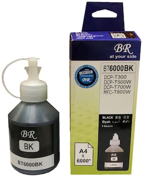 UV INFOTECH REFILL INK FOR BR 6000BK COMPATIBLE FOR USE IN T300/T310/T500/T510/T700/T710/T800/T810 PRINTERS ( black-100 ml )