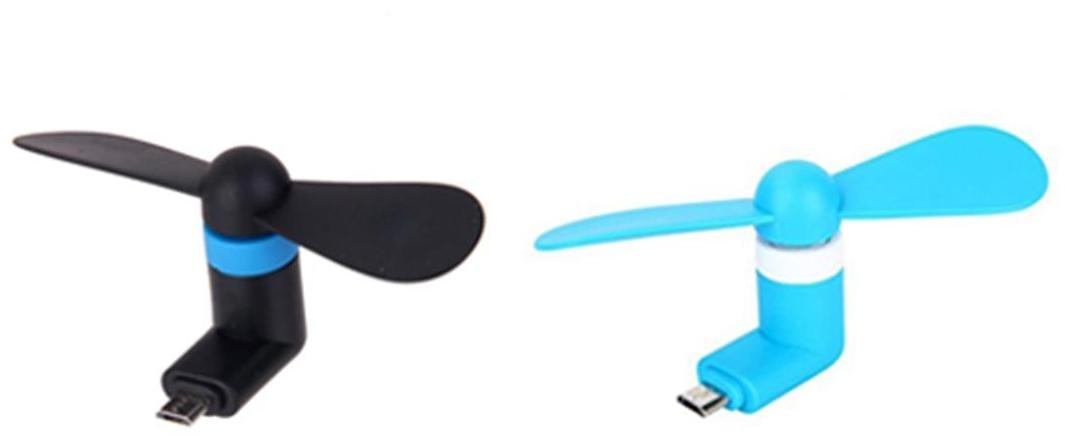 (V8) 2 pcs. Mini Fan with Micro Pin with OTG Support Mobile Fan for All Android Smartphones ( Assorted Colors)
