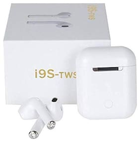 VARIPOT i9s earbuds In-Ear Bluetooth Headset ( White )