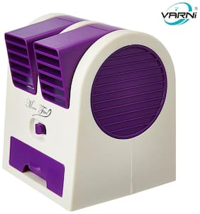 Varni Portable Mini Air Conditioner / Fan  /Desk Water Cooler USB Operated / Battery Operated (Color Assorted)
