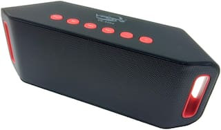 Varni Portable Bluetooth Speaker with Aux Line and USB Cable (Black) VR-S204