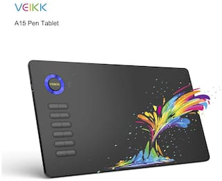 Veikk A15 blue 10 x 6 inch inch Graphic Tablets