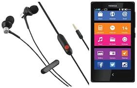 VEKARIYA Nokia X In-Ear Wired Headphone ( Black )