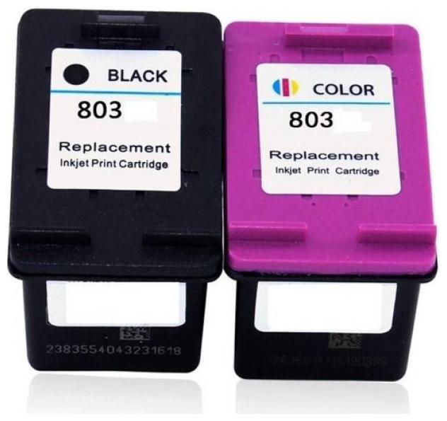 VERENA 803 Black   colour combo Ink Cartridge HP Deskjet 1112/ 1112/ 1111/ 2131/ 2132 Printer Multi Color Ink Cartridge   Black, Cyan, Yellow, Magenta