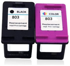 VERENA 803 Black & colour combo Ink Cartridge HP Deskjet 1112/ 1112/ 1111/ 2131/ 2132 Printer Multi Color Ink Cartridge  (Black, Cyan, Yellow, Magenta)
