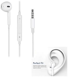 Vivo Y55s Compatible Fine Sterio High Defination  Bass Sound Original Earpphone/Earphones Headphone/Handsfree for Android/IOS Mobile By MATT PIE.