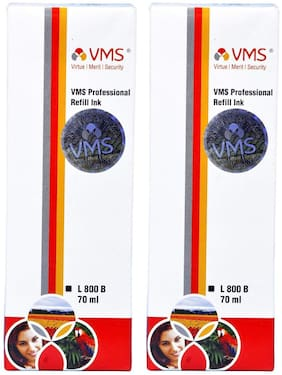 VMS Professional Yellow Refill Ink for HP, EPSON and All Inkjet Printers 70 ML (Pack of 2)