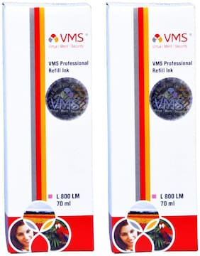 VMS Professional Light Magenta Refill Ink Epson Refill Ink 140ml (70ml x 2 Bottles)
